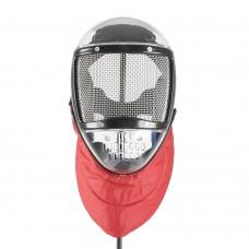 Пластиковая маска с красным воротником